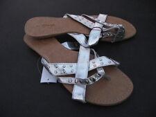 BNWT Ladies Sz 8 Stunning Silver Target Brand Low Heel Pretty Summer Sandals