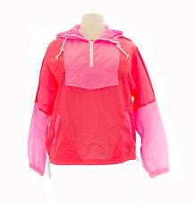 TopShop Women's Fluorescent Pink/Orange Windbreaker Jacket 11XO1A Size 12 NWT