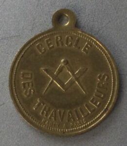 Rare Médaille Franc-Maçonnerie, Cercle des Travailleurs