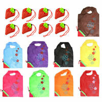 5X Foldable Strawberry Reusable Carrier Shopping Tote Bag Shopping Bag New M9B6