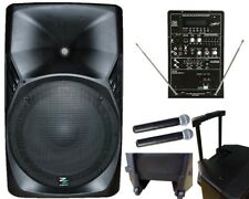 ZZIPP ZZPB15 Impianto Cassa Amplificata Portatile 180w / 2 Radiomicrofoni, mp3,