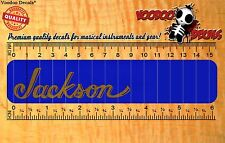 Guitar Headstock Vinyl Decal - Jackson