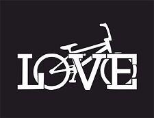 Love  Bike (Bicycle) Car Surf Vinyl Decal Sticker EURO JDM DUBV Funny Jap VW