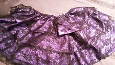 Size 12 Black & Purple Baroque Pettiskirt Large Burlesque/Bustle/Skirt/Women/NEW