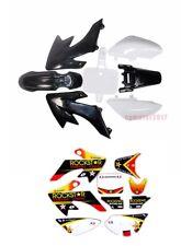 Black+White Plastics Fender & Stickers Set Pit Bike 70/90/110/125cc ATOMIK CRF50