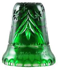 XXL Fingerhut aus grünem Bleikristall in Überfangtechnik geschliffen - AE 548
