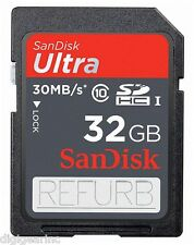 32GB SD SanDisk Ultra SDHC Class 10 Canon PowerShot ELPH 350 340 HS 170IS Refurb