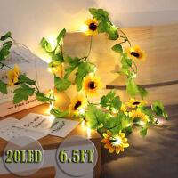 2M/20LEDs Artificial Flower Vine LED String Light Wedding Christmas Fairy Lights