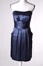 Davids Bridal Womens Cocktail Dress Size 6 Navy Prom Party Strapless (P)