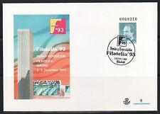 ESPAÑA SOBRE ENT.POST.1993 21  MATASELLADO FILATELIA 93