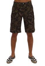 NEW $560 DOLCE & GABBANA Shorts Black Green Cotton Military Pattern IT50 / W36