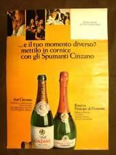 Spumante Cinzano Asti e Principe di Piemonte Pubblicità vintage anni '70