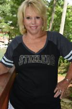 Steelers rhinestone and glitter  bling shirt XS S M L XL XXL 3X 4X 5X athletic