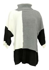NorthStyle Women's Sweater Sz L Pull Over Turtleneck Gray