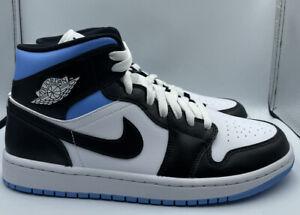 Nike Women's Air Jordan 1 Mid 'University Black White' BQ6472-102 Size 10W/8.5M