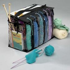 Yarn Tote Bag 6 Skein Holder Knitting Crocheting Supply Organizer No Tangle Free