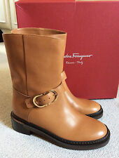 SALE! VALENTINO TAN  SUEDE LEATHER GOLD LOGO SHORT BOOTS 36.5 37