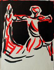 Marino MARINI - Lithographie litografia XXe Siècle 1967 Mourlot le cavalier
