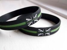 THIN GREEN LINE UK GB AMBULANCE MEDIC MOURNING BADGE WRISTBAND BRACELET