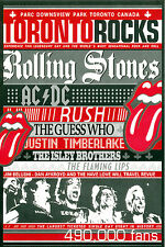 Toronto Rocks (Rolling Stones, AC/DC, RUSH...) RARE promo postcard '04