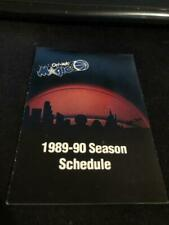 1989-90 Orlando Magic Basketball Pocket Schedule Pepsi Version Inaugural Season
