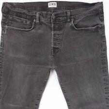 Mens EDWIN ED80 Stretch Slim Tapered Grey Jeans W38 L28