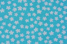 SURF TIME FLOWERS ON AQUA FABRIC BY HEIDI DOBROTT FOR ROBERT KAUFMAN FQ