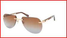 ZILLI Sunglasses Titanium Acetate Leather Gradient France Handmade ZI 65043 C02