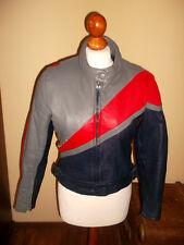 vintage 80`s POLO Motorrad Lederjacke bikerjacke motorcycle leather jacket 40