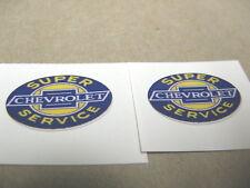"1-1/2 X 1"" PAIR CUSTOM PEEL-N-STICK CHEVROLET SERVICE CAR TRUCK VINYL TOY DECALS"