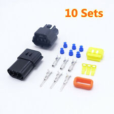 10 Sets Three Pins Way Connector AMP 1.8 New Auto Connector Plugs Waterproof New