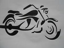 Stencil Schablone Motorrad2  auf A4