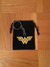 Small Yellow Wonder Woman Logo Keychain