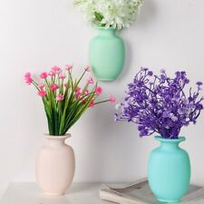 Wall Vases Hanging Hydroponic Flower Pot Fridge Wall Sticker Home Decoration