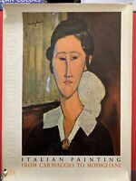 Italian Painting from Caravaggio to Modigliani printed in Switzerland in 1952 VG