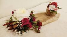 Oval solid Teak wood slice cut serving slab cheese platter rustic wedding décor