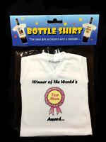 Bottle Mini T-Shirt Ideal Fun Birthday Gift Accessory message Top Mum Mother