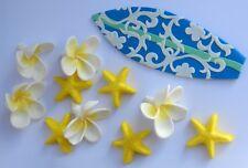 edible BEACH PARTY cake topper decoration kit wedding SURF tropical FRANGIPANI