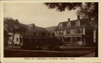 Windsor CT Campbell School c1910 Postcard