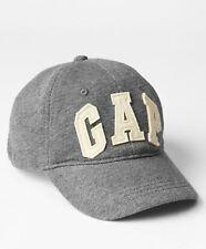GAP Kids Boys Size S / M Gray Ivory Logo Jersey Knit Baseball Cap Sun Beach Hat