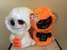 "Ty Beanie Boo Ghosts MIST & GRINNER~6""~MWMTS"