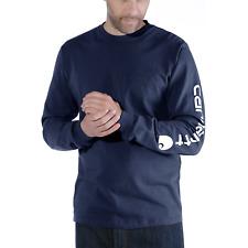 hellgrau Carhartt Workwear Signature Longsleeve Sweatshirt mit Ärmeldruck