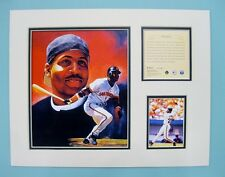 San Francisco Giants BARRY BONDS 1996 MLB Baseball 11x14 Matted Lithograph Print