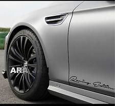 Racing Edition Decal Sticker sport speed car logo emblem skirt sticker BLACK