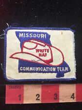 Vtg  MISSOURI WHITE HAT COMMUNICATION TEAM Amateur Radio Patch COWBOY HAT 81D2