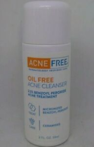 Acne Free Oil Free Acne Cleanser 2.5% Benzoyl Peroxide Treatment 2 fl oz ex11/20