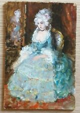 Quadro dipinto a tempera su tavola autore S. Rutili