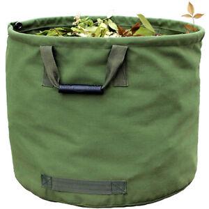 ELK Reusable Garden Leaf Waste Bag with Handles - Heavy Duty Canvas (33 Gallon)