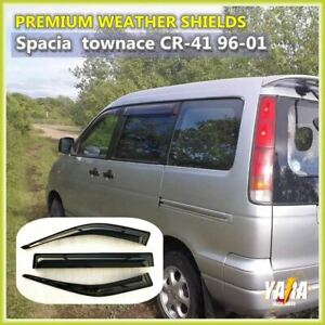 Weather shields Weathershields Window Visors for Toyota Spacia townAce 1996-On