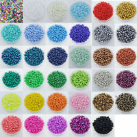 1000Pcs Round Czech Glass Seed Loose Spacer Beads Jewelry Making DIY 2mm